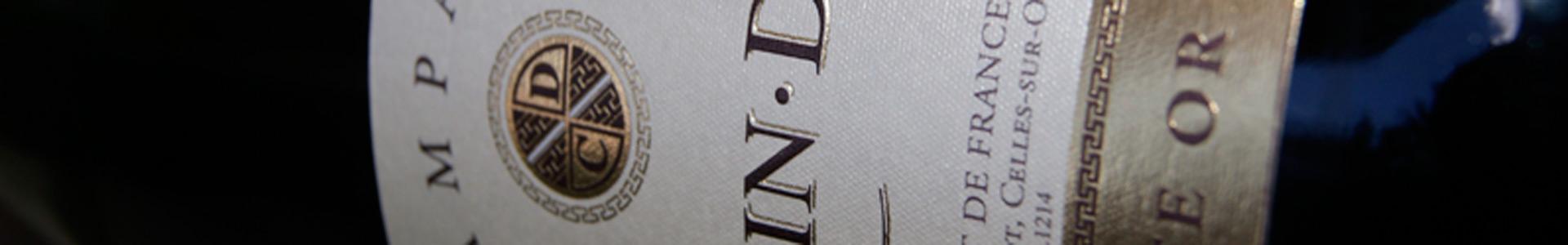 bannière bouteille champagne carte or cheurlin dangin
