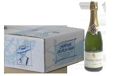 photo caisse 6 bouteille de champagne carte or  avec bouteille