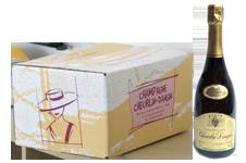 photo caisse 6 bouteille de champagne cuvée speciale avec bouteille