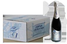 photo caisse 6 bouteille de champagne origance avec bouteille